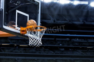 Plakát Velký basketbal aréna s kopií vesmíru