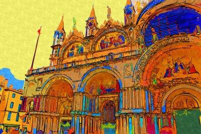 Plakát Venice výtvarné ilustrační