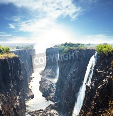 Plakát Victoria waterfall