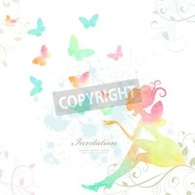 Plakát Víla barvy akvarelu
