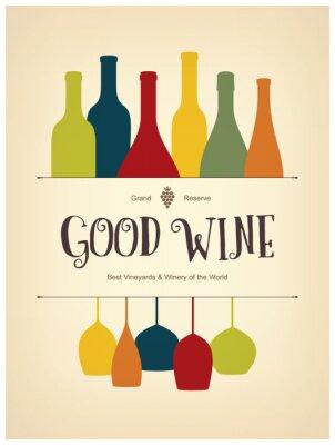 Plakát Vinný lístek designu