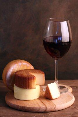 Plakát Víno a sýry