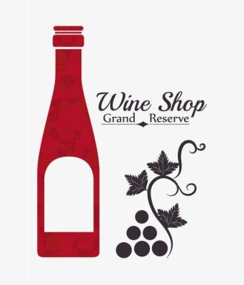 Plakát Víno digitální design.