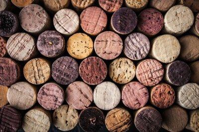Plakát Víno korky pozadí detailní