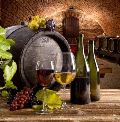 Plakát Víno zátiší