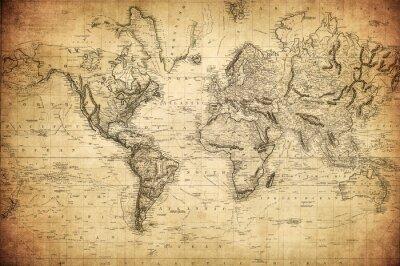 Plakát Vinobraní mapa světa 1814 ..