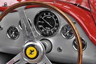 Plakát Vintage Ferrari dashboard