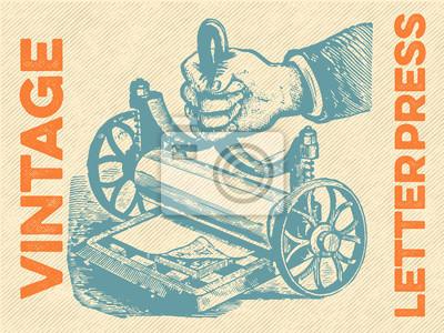 Plakát Vintage knihtisk Vector