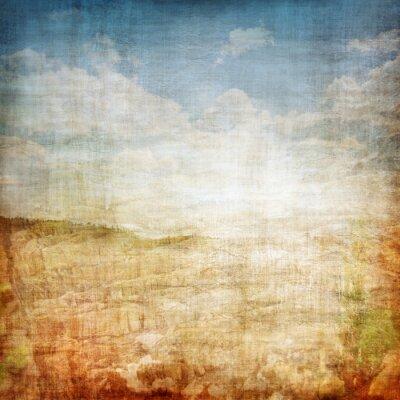 Plakát Vintage Krajina Fabric Background