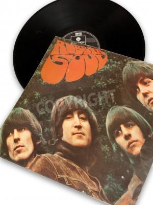 Plakát vintage original vinyl record of rockstar beatles rubber soul