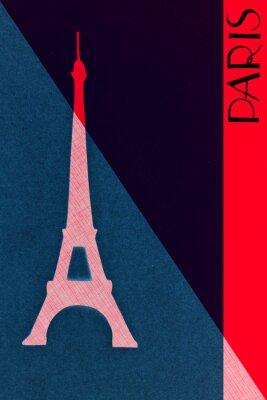 Plakát Vintage Paříž poštovní - kaligrafie - ruční písmeny design elemen