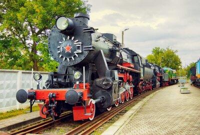 Plakát Vintage parní lokomotiva