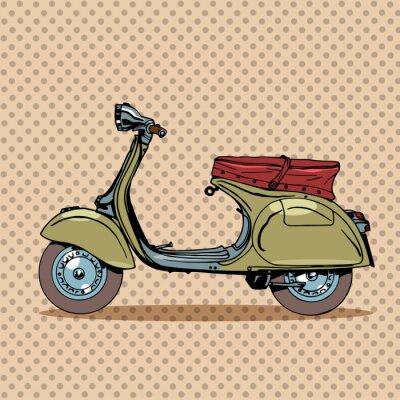 Plakát Vintage skútr retro doprava