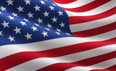 Plakát Vlajka Spojených států amerických