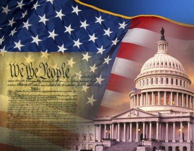 Plakát Vlastenecké symboly - Spojené státy americké