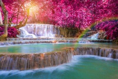Plakát Vodopád v deštných pralesů (TAT Kuang Si vodopády na Luang praba