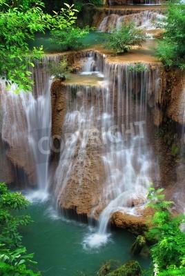 Plakát vodopád v thajském národním parku