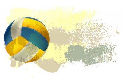 Plakát Volejbal Banner Všechny prvky jsou v samostatných vrstvách a seskupeny.