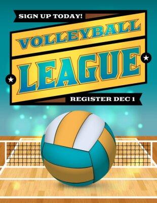 Plakát Volejbal Liga Flyer ilustrace