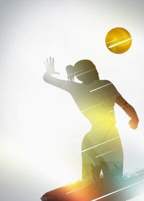 Plakát Volejbal plochý design pozadí