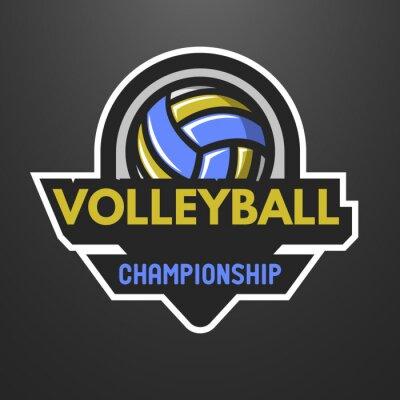 Plakát Volejbal sport logo, štítek, znak.