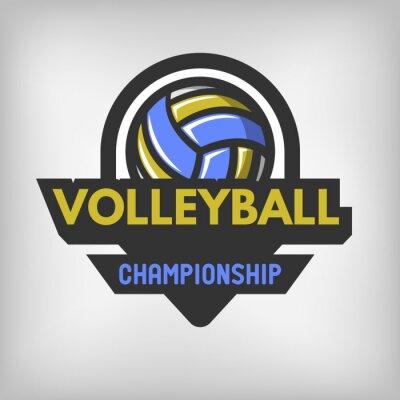Plakát Volejbal sportovní logo.