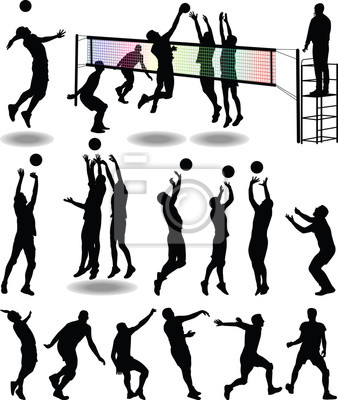 Plakát volejbalový hráč