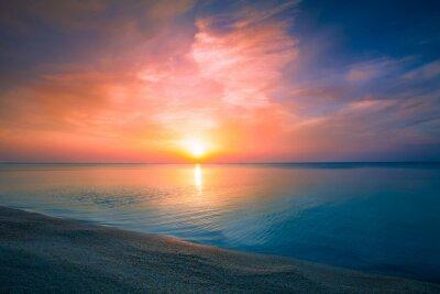 Plakát Východ slunce nad mořem