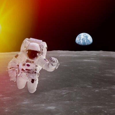 Plakát Vysoce kvalitní kompozitní izolované astronaut ve vesmíru; prvky