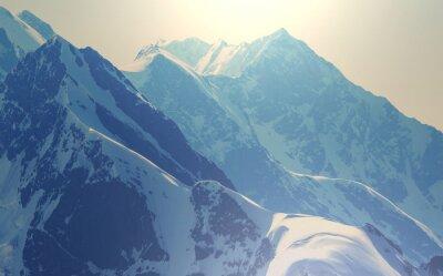 Plakát Vysoké Kavkaz hory