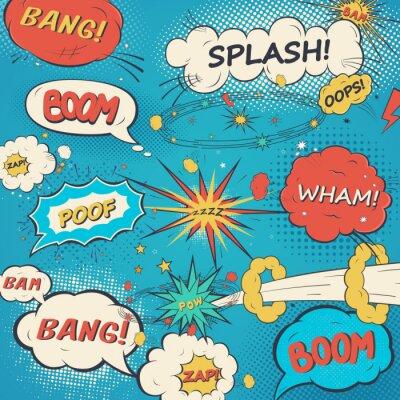 Plakát Vzor komické bubliny ve stylu pop art