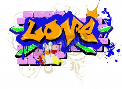 Plakát wall Graffiti love Urban Art