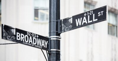 Plakát Wall street