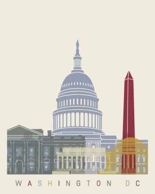 Plakát Washington DC panorama plakát