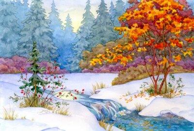 Plakát Winter Forest
