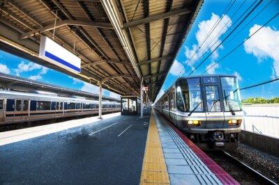 Plakát 鉄 道 の 駅 の プ ラ ッ ト ホ ー ム