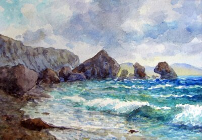 Plakát Скалы у берега.