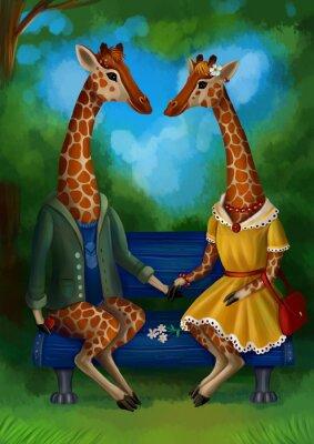 Plakát Жираф на свидание