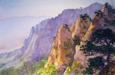 Plakát Вершины гор.
