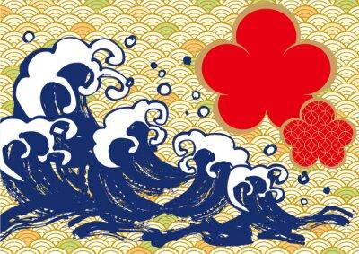 Plakát 海 毛筆 梅