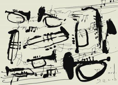 Plakát Музыкальные инструменты