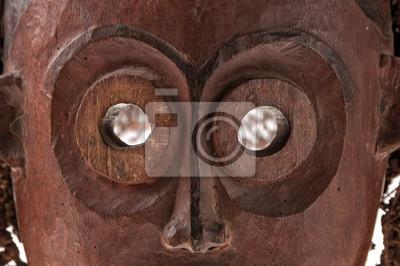 24481366305 Plakát Africká dřevěná maska s vlasy