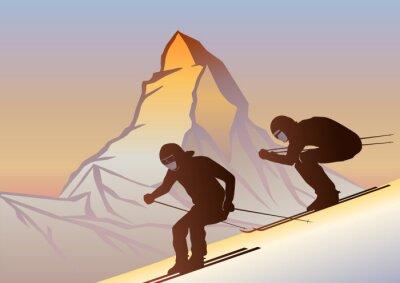 Plakát Kayakçılar ve Matterhorn