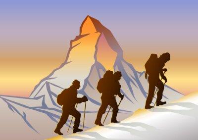 Plakát Matterhorn ve Dağcılar