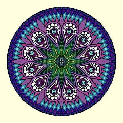 Plakát okrasné kolo krajky vzor, kruh pozadí s mnoha detaily, vypadá to háčkování ruční krajky