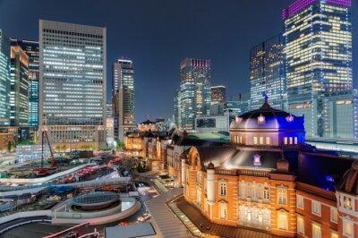 Plakát 東京駅 夜景
