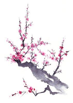 Plakát 梅 水墨画