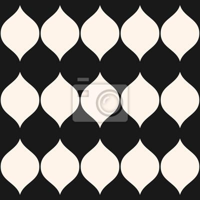Plakát: Vektorové černobílé bezešvé vzor, svislé vlnité tvary, velké