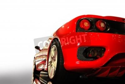 Plakát záběr z červené sportovní auto (ferrari)