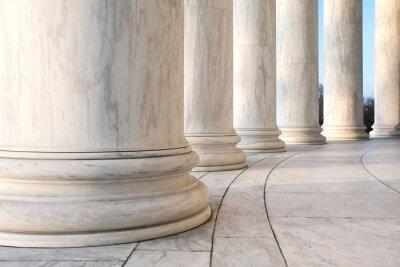 Plakát Základ Ionic sloupců v Jefferson památník ve Washingtonu DC